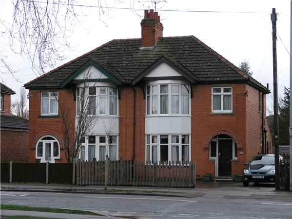 houses of the 1930s two storey single fronted semi detached house