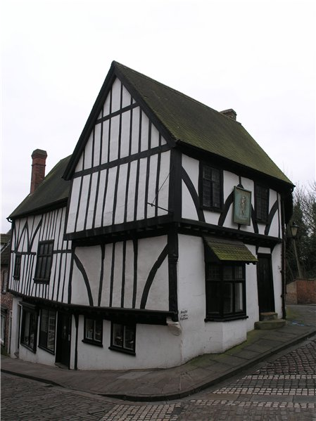 Timber framed 'Harlequin' former Public House in the far north of the Character Area