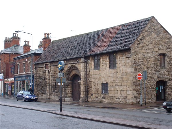 St Mary's Guildhall, which contains the in-situ remains of the 'Fosse Way'