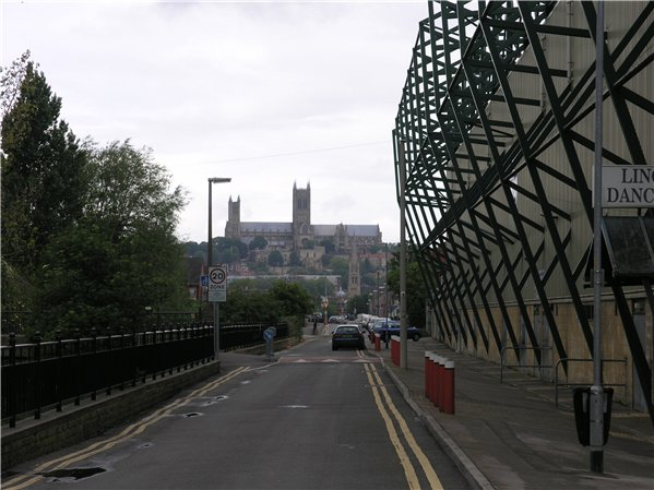 View of Lincoln Cathedral from Sincil Bank