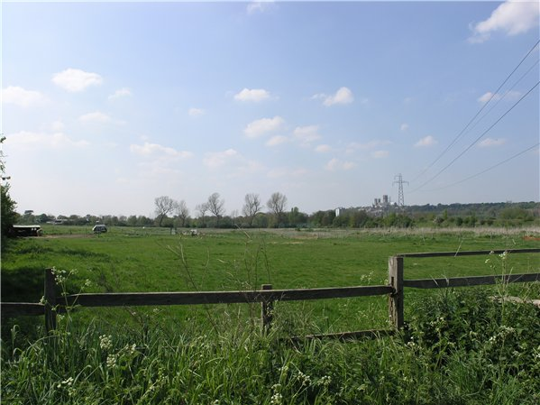 View over grazing areas in the centre of the Character Area looking over towards Cow Paddle and the Lincoln Cathedral.