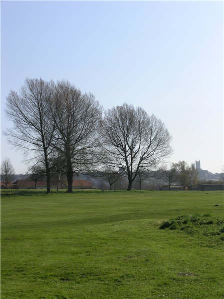 Uninterrupted views of Lincoln Cathedral from Lincoln City Golf course