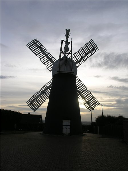 Silhouette of Ellis Mill