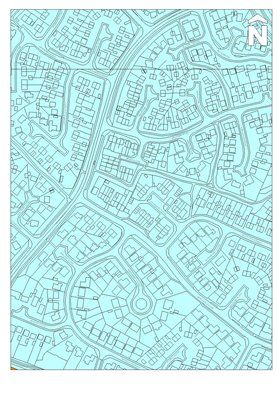 Map od sinuous road patterns in a modern residential housing estate